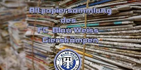 Altpapiersammlung des FC BW Gierskämpen