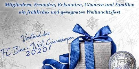 Weihnachtsgruss FC BW Gierskämpen